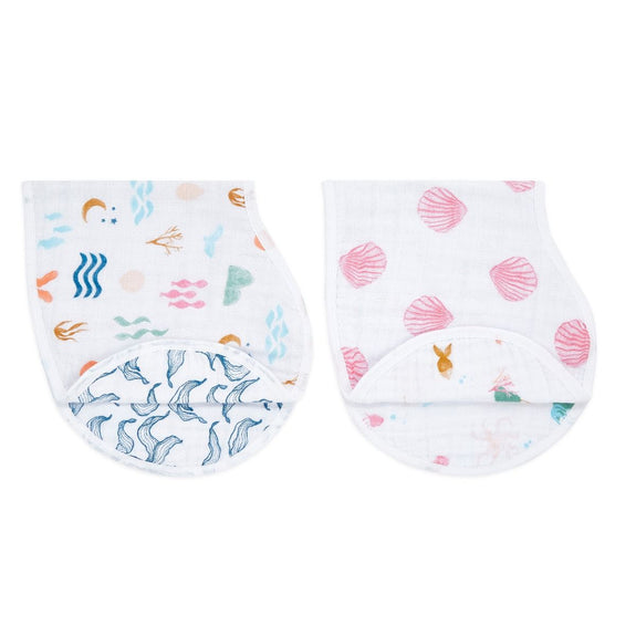 Classic Burpy Bib Set of 2 - Salty Kisses