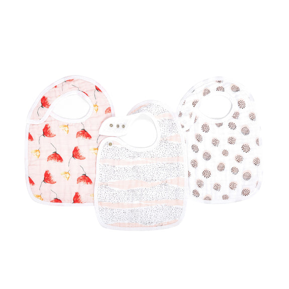 Classic Muslin Snap Bibs Set of 3 - Picked for You