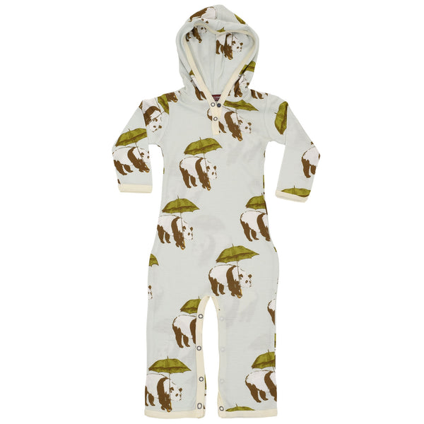 Bamboo Hooded Romper (Blue Panda)