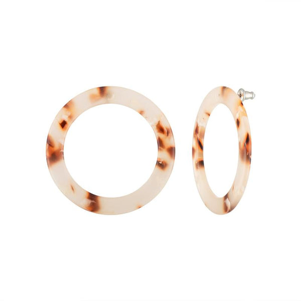 Isla Hoops in Blush Tortoise