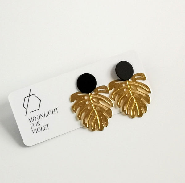 Monstera Dangles - Black