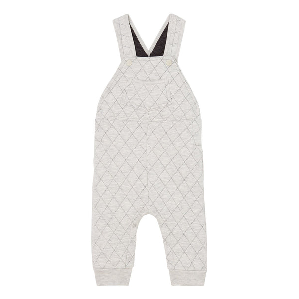 Quilted Overalls -Grey