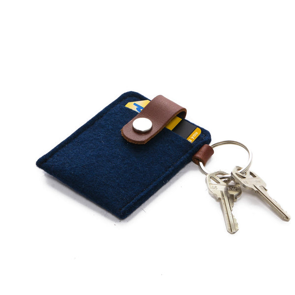 Key Card Case Felt (Marine)