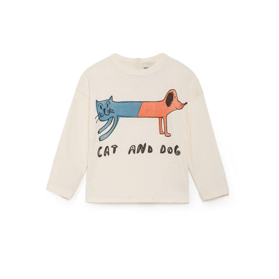 Cat And Dog Round Neck Shirt