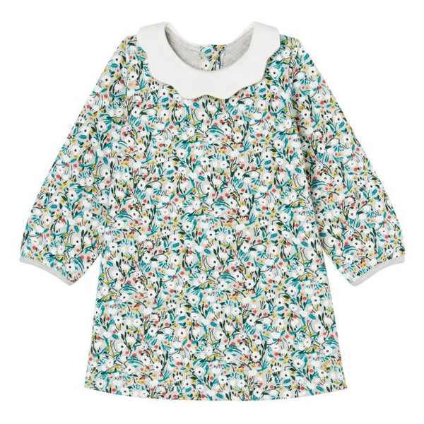LS Floral Collar Dress