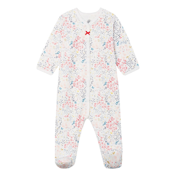 LS Snap Floral Footed Pajamas