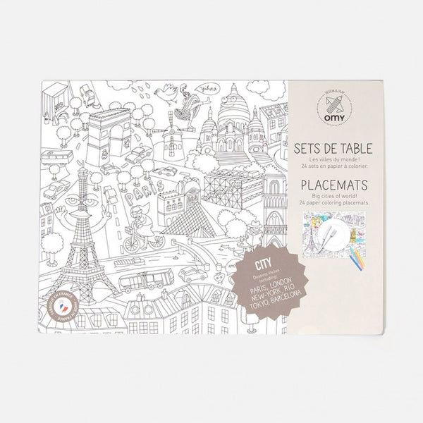 Coloring Placemats - City