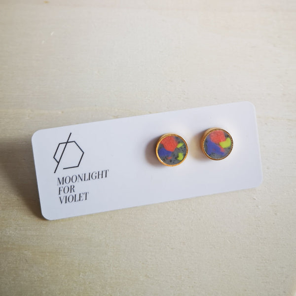 Circle Color Pop Studs