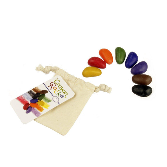 Crayon Rocks 8 Colors in a Muslin Bag