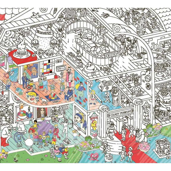 Coloring Poster Crazy Museum