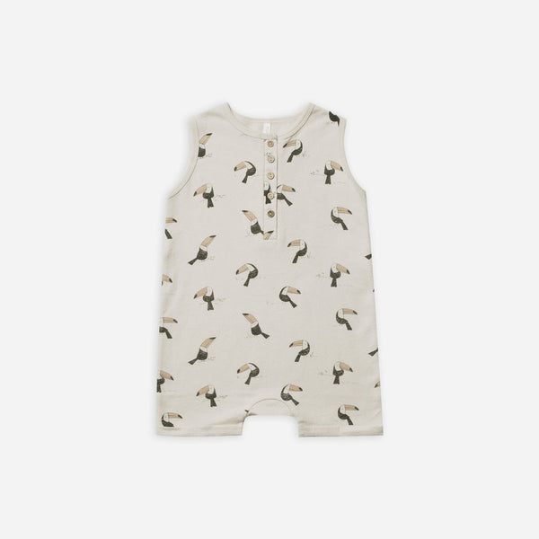 Rylee Toucan Davis Romper Cloud