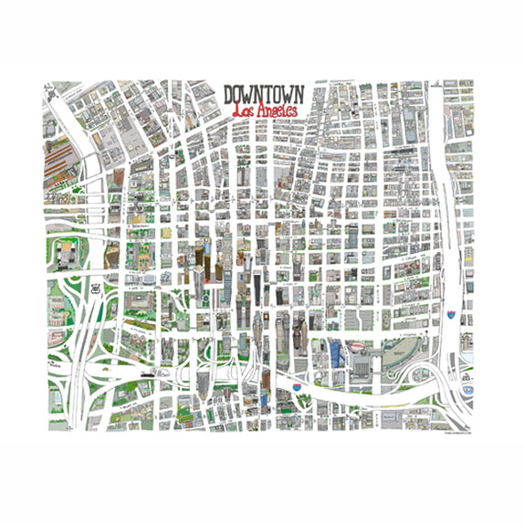 Downtown Map Print