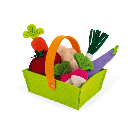 Fabric Basket with 8 Vegetables