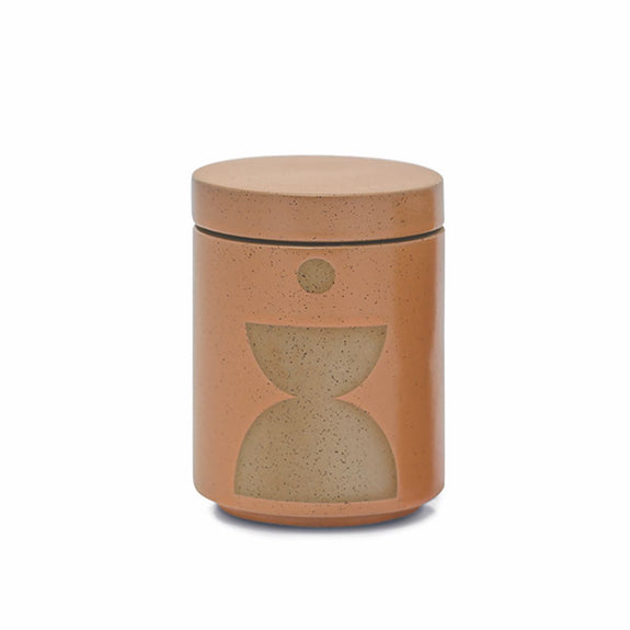 Form Burnt Sienna Glazed Ceramic Candle - Wild fig & Vetiver
