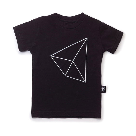Geometric Patch T-Shirt (Black)