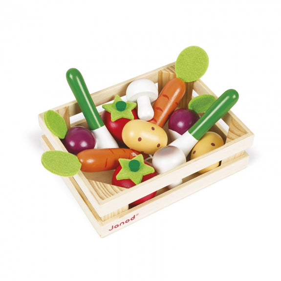 12 Wooden Vegetables Crate