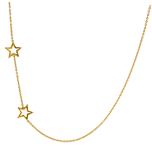 Two Star Necklace