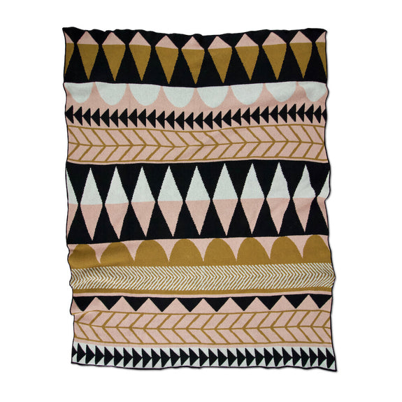 Kenichi Blush Ochre Throw