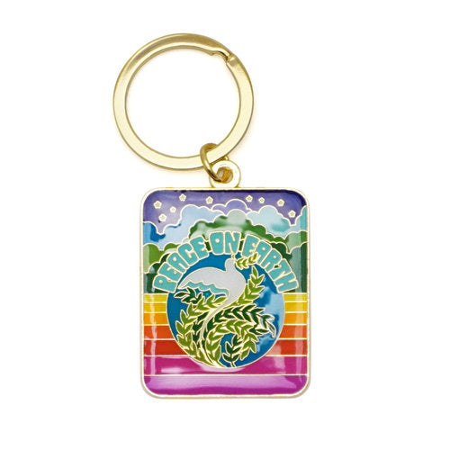 Peace On Earth Keychain