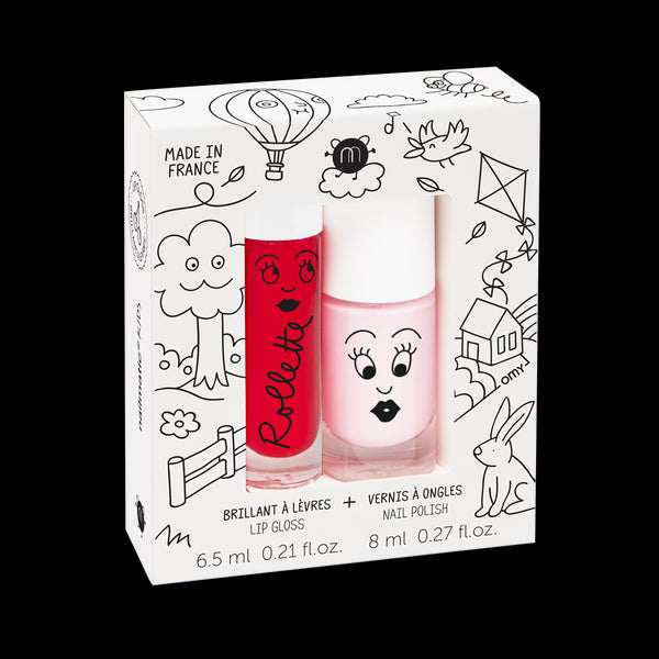 Lip Gloss & Nail Polish Set Kids Cottage
