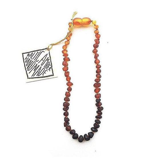 Kids: Raw Baltic Amber Ombre Necklace