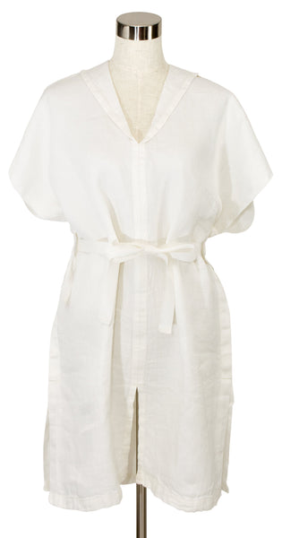 Kaste Linen Bath Gown - White