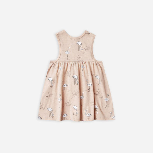 Rylee Flamingos Layla Dress Blush
