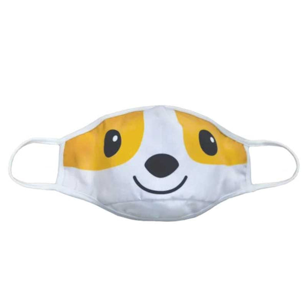 Reversible Face Mask - Corgi - 6-12Y