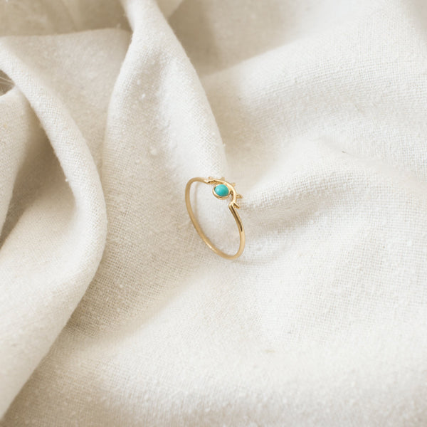 Beam Ring - Silver Turquoise