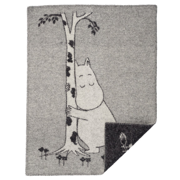 Moomin Tree Hug Wool Blanket Grey