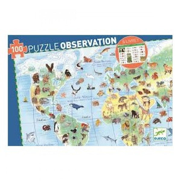 Observation World Puzzle - Animals