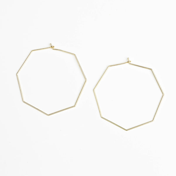 Harlow Octagon Hoop Earrings
