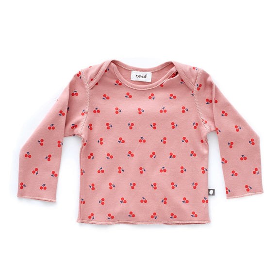 LS Tee - Dark Pink/Cherries