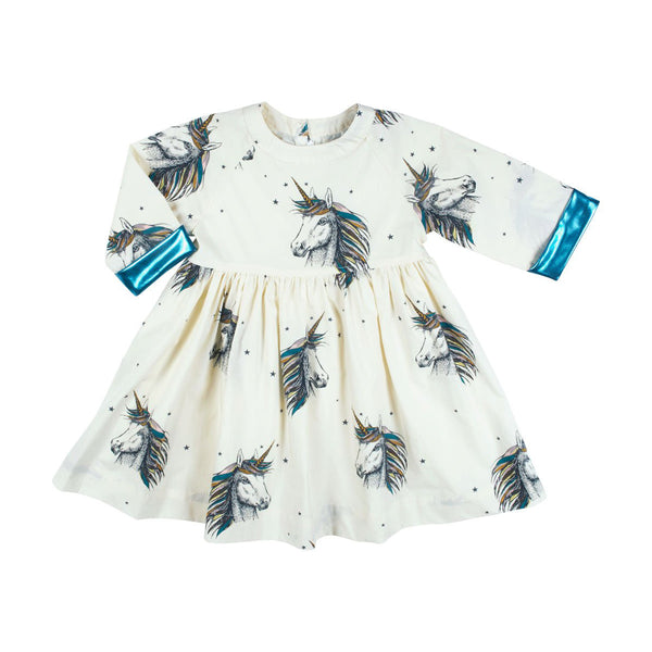 Olive Dress White/Unicorn
