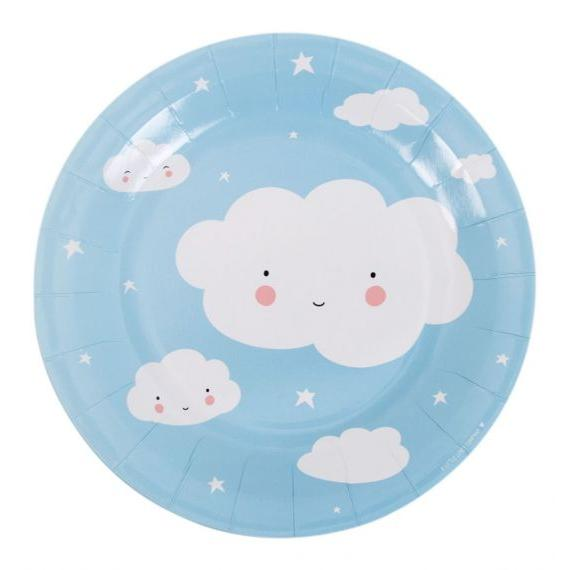Cloud Paper Plates Set of 12