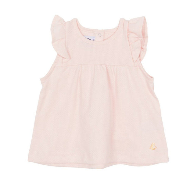 Sleeveless Ruffle Tee - Light Pink