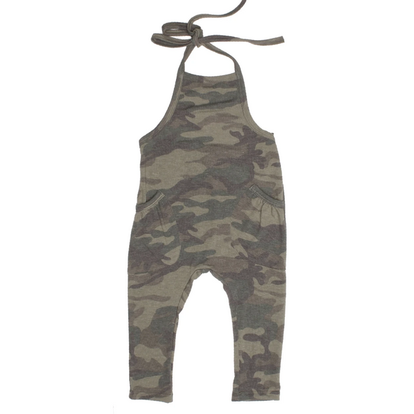 Peyton Camo One Piece Overalls - Olive
