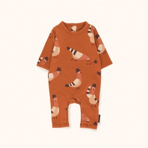 Pigeons One-Piece (Brick/Nude/Plum)