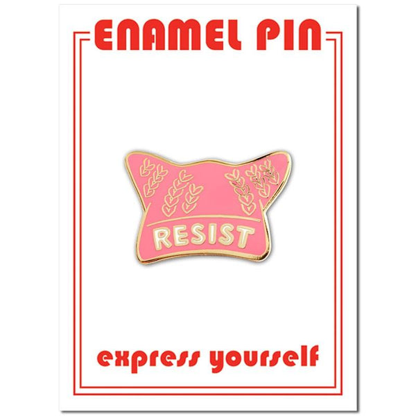 Resist Hat Enamel Pin
