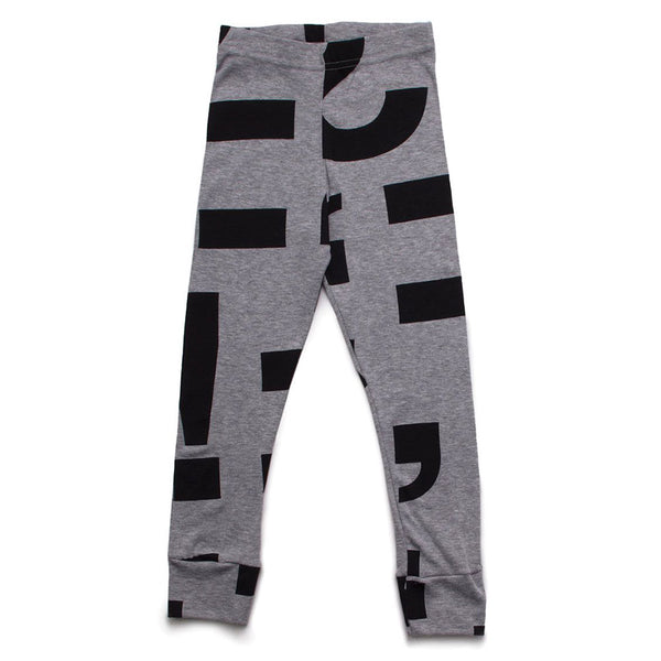 Punctuation Leggings (Heather Grey)