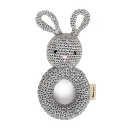 Crocheted Ring Hand Rattle Bunny