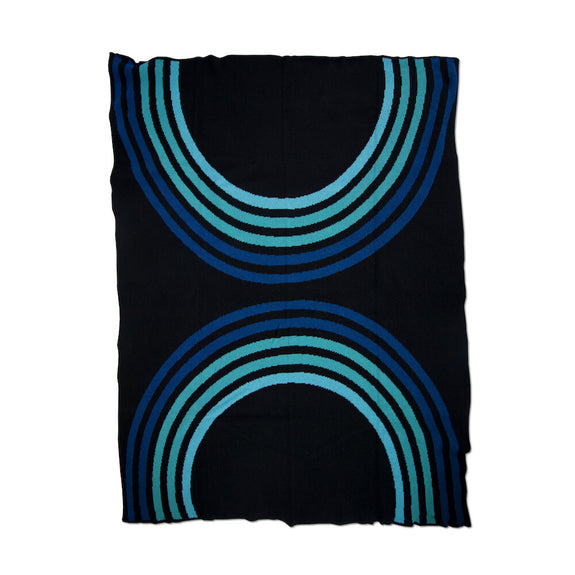 Reverb Black Blues Throw