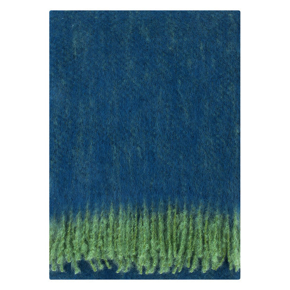Revontulli Mohair Blanket - Green/Blueberry