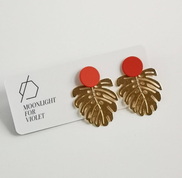 Monstera Dangles - Rust