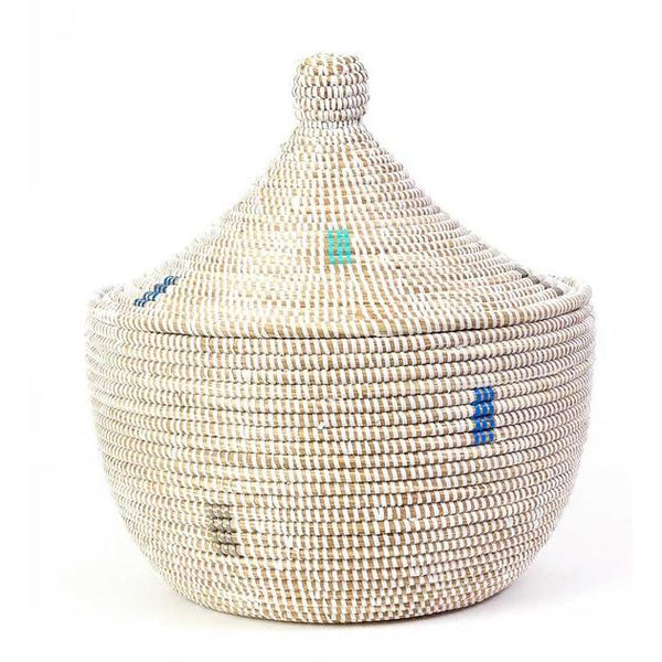 Warming Basket - White/Sliver/Blue