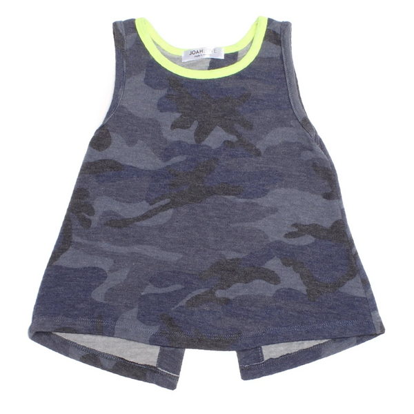 Shuana Camo Top - Blue