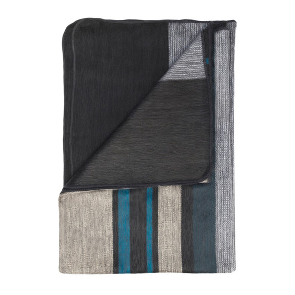 Alpaca Throw Modern Onyx