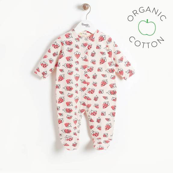 Starr Sleepsuit - Strawberry