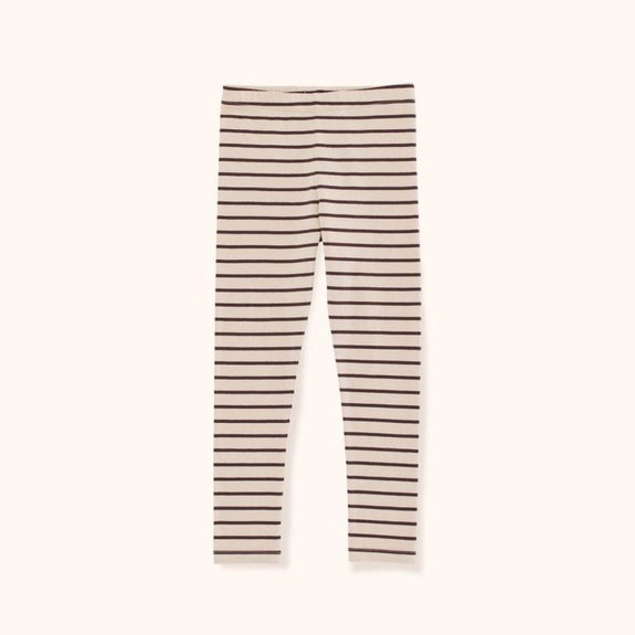 Small Stripes Pant (Nude/Plum)