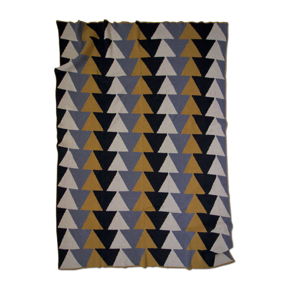 Stacked Ochre Throw
